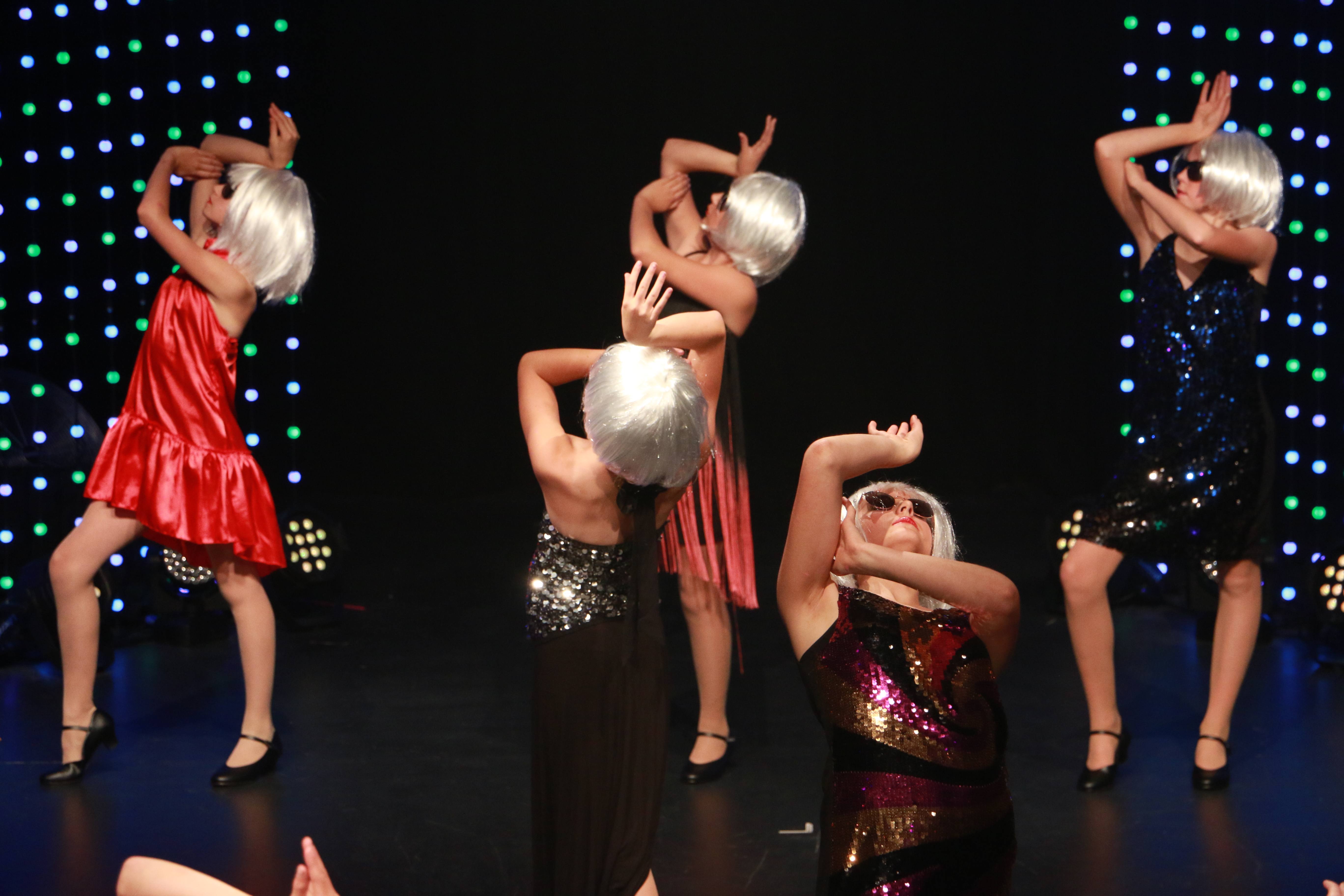 Girls performing dance show